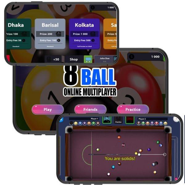 8 Ball multiplayer Pool Unity Source code
