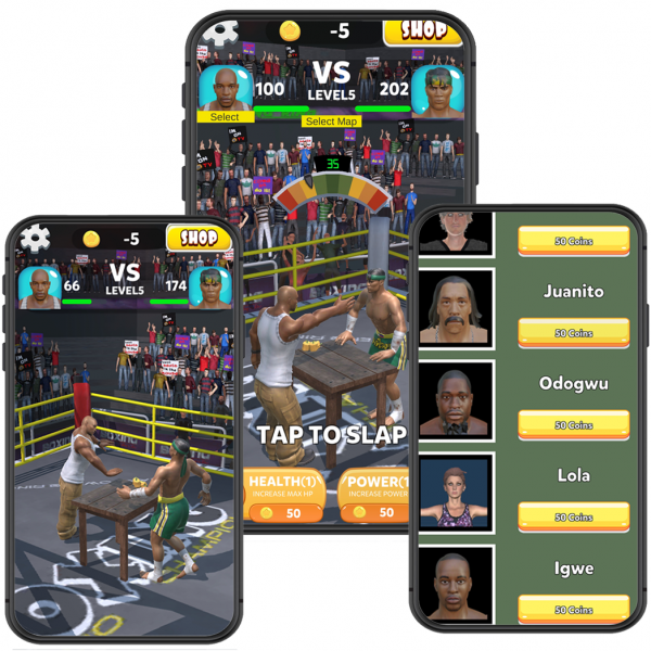 Slap King unity source code and game template