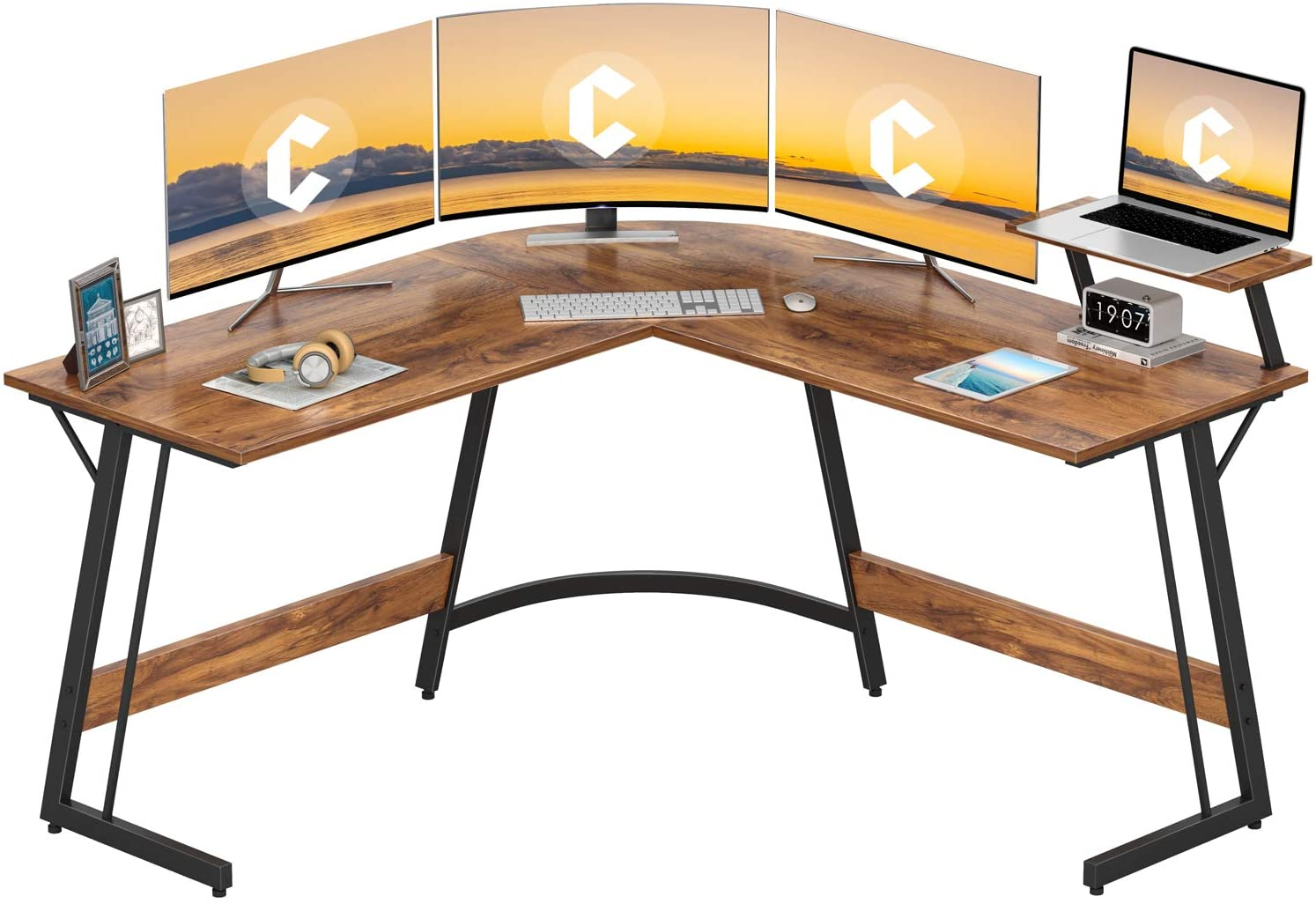 Cubiker L-shaped wood Gaming desk